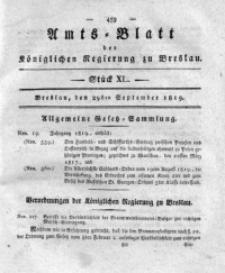 Amts-Blatt der Königlichen Regierung zu Breslau, 1819, Bd. 10, St. 40