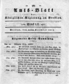 Amts-Blatt der Königlichen Regierung zu Breslau, 1819, Bd. 10, St. 52