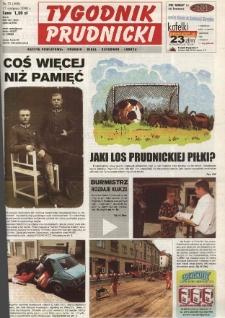 Tygodnik Prudnicki : gazeta powiatowa : Prudnik, Biała, Głogówek, Lubrza. R. 11, nr 33 (508).