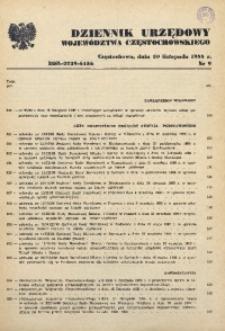 Dziennik Urzędowy Województwa Częstochowskiego, 1988, Nr 9