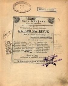 Na łeb na szyję (Paryskie małżeństwa). Farsa w 3 aktach Bissona i Sylwana z francuskiego, tłum. L .Śliwińska. (Warszawa 2 czerwca 1906)
