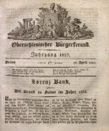 Oberschlesischer Bürgerfreund, 1827, nr 17