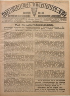 Oberschlesisches Angestellten-Echo, 1929, Jg. 11, nr 7/8