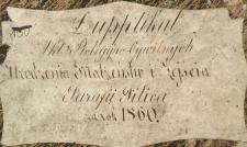Księga urodzeń, małżeństw i zgonów Pilica 1860