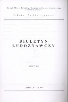 Biuletyn Ludoznawczy, z. 21