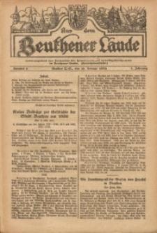Aus dem Beuthener Lande, 1926, Jg. 3, Nr. 6