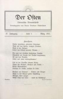 Der Osten, 1911, Jg. 37, H. 3