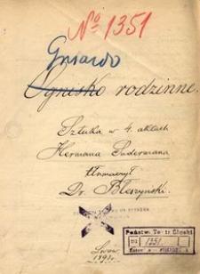 Gniazdo rodzinne (Ognisko rodzinne). Sztuka w 4 aktach Hermana Sudermanna, tłumaczył Dr Błeszyński. Lwów 1893