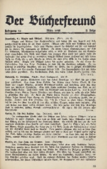 Der Bücherfreund, 1938, Jg. 10, Folge 9