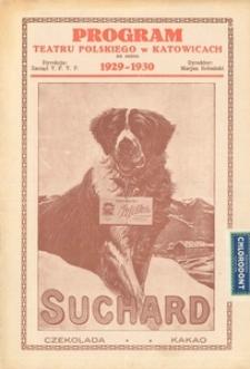 """Teatr Polski w Katowicach. 1929-1930. Program. """"Aida"""". Opera w 4 aktach (7 obrazach). Słowa G. Ghislanzoni'ego. Muzyka J. Verdi'ego"""