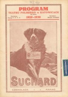 """Teatr Polski w Katowicach. 1929-1930. Program. """"Maman do wzięcia"""". Krotochwila 3 aktach Adama Grzymały-Siedleckiego"""