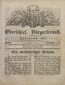 Oberschlesischer Bürgerfreund, 1835, nr 47