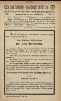 Schlesische Geschichtsblätter, 1918, Nr. 3