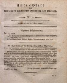 Amts-Blatt der Königlichen Liegnitzschen Regierung von Schlesien, 1811, Jg. 1, No. 2