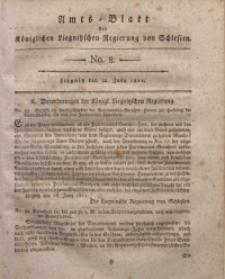 Amts-Blatt der Königlichen Liegnitzschen Regierung von Schlesien, 1811, Jg. 1, No. 8