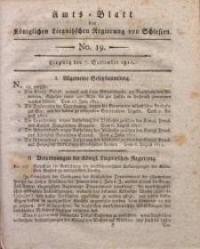 Amts-Blatt der Königlichen Liegnitzschen Regierung von Schlesien, 1811, Jg. 1, No. 19
