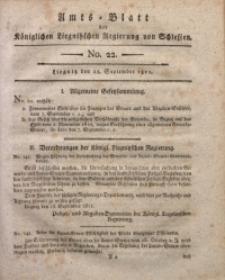Amts-Blatt der Königlichen Liegnitzschen Regierung von Schlesien, 1811, Jg. 1, No. 22