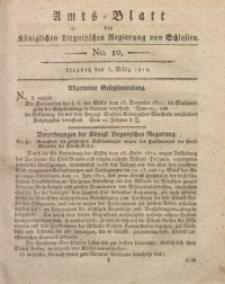 Amts-Blatt der Königlichen Liegnitzschen Regierung von Schlesien, 1812, Jg. 2, No. 10