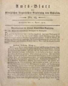 Amts-Blatt der Königlichen Liegnitzschen Regierung von Schlesien, 1812, Jg. 2, No. 15