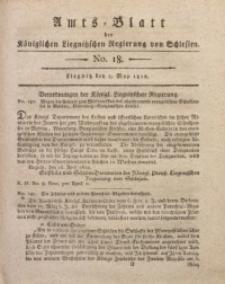 Amts-Blatt der Königlichen Liegnitzschen Regierung von Schlesien, 1812, Jg. 2, No. 18
