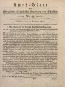 Amts-Blatt der Königlichen Liegnitzschen Regierung von Schlesien, 1812, Jg. 2, No. 44