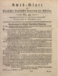 Amts-Blatt der Königlichen Liegnitzschen Regierung von Schlesien, 1812, Jg. 2, No. 47