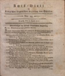 Amts-Blatt der Königlichen Liegnitzschen Regierung von Schlesien, 1815, Jg. 5, No. 15