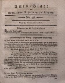 Amts-Blatt der Königlichen Liegnitzschen Regierung von Schlesien, 1816, Jg. 6, No. 26