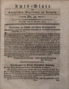 Amts-Blatt der Königlichen Liegnitzschen Regierung von Schlesien, 1816, Jg. 6, No. 43