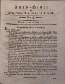 Amts-Blatt der Königlichen Liegnitzschen Regierung von Schlesien, 1817, Jg. 7, No. 8