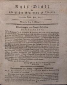 Amts-Blatt der Königlichen Liegnitzschen Regierung von Schlesien, 1817, Jg. 7, No. 10