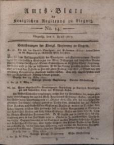 Amts-Blatt der Königlichen Liegnitzschen Regierung von Schlesien, 1817, Jg. 7, No. 14
