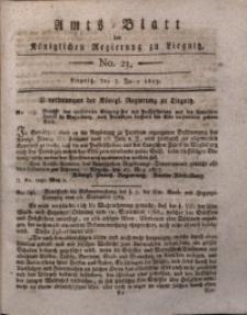 Amts-Blatt der Königlichen Liegnitzschen Regierung von Schlesien, 1817, Jg. 7, No. 23
