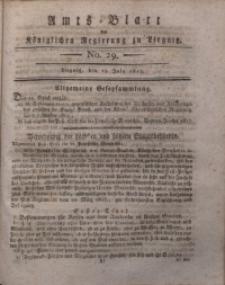 Amts-Blatt der Königlichen Liegnitzschen Regierung von Schlesien, 1817, Jg. 7, No. 29