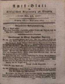 Amts-Blatt der Königlichen Liegnitzschen Regierung von Schlesien, 1817, Jg. 7, No. 38