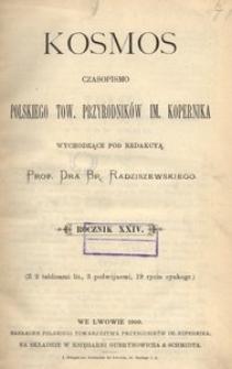 Kosmos, 1899, R. 24