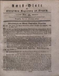 Amts-Blatt der Königlichen Liegnitzschen Regierung von Schlesien, 1817, Jg. 7, No. 43