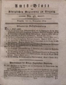 Amts-Blatt der Königlichen Liegnitzschen Regierung von Schlesien, 1817, Jg. 7, No. 47