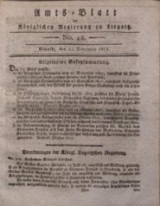 Amts-Blatt der Königlichen Liegnitzschen Regierung von Schlesien, 1817, Jg. 7, No. 48