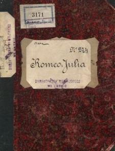 Romeo i Julia. Opera w 5u aktach słowa J. Barbier i M. Carre, muzyka Karola Gounoda. Egzemplarz reżyserski Tadeusza Skalskiego