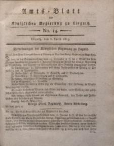 Amts-Blatt der Königlichen Liegnitzschen Regierung von Schlesien, 1819, Jg. 9, No. 14