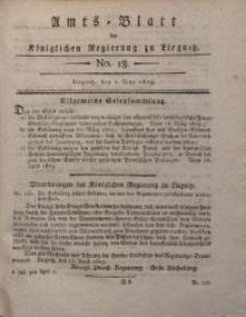 Amts-Blatt der Königlichen Liegnitzschen Regierung von Schlesien, 1819, Jg. 9, No. 18