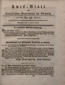 Amts-Blatt der Königlichen Liegnitzschen Regierung von Schlesien, 1819, Jg. 9, No. 27