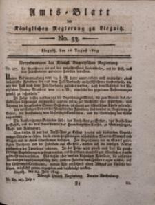 Amts-Blatt der Königlichen Liegnitzschen Regierung von Schlesien, 1819, Jg. 9, No. 33
