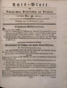 Amts-Blatt der Königlichen Liegnitzschen Regierung von Schlesien, 1819, Jg. 9, No. 38
