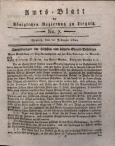 Amts-Blatt der Königlichen Liegnitzschen Regierung von Schlesien, 1820, Jg. 10, No. 7