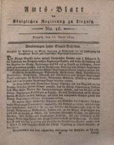 Amts-Blatt der Königlichen Liegnitzschen Regierung von Schlesien, 1820, Jg. 10, No. 16