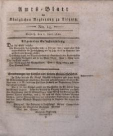Amts-Blatt der Königlichen Liegnitzschen Regierung von Schlesien, 1822, Jg. 12, No. 14