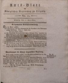 Amts-Blatt der Königlichen Liegnitzschen Regierung von Schlesien, 1822, Jg. 12, No. 21