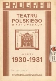 """Teatr Polski w Katowicach. 1930-1931. Program. """"Carmen"""". Opera w 4 aktach według noweli P. Merimé. Słowa H. Meilhac'a i L. Helevy'ego. Muzyka G. Bizeta"""